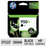HP 950XL CN045AN#140 High Yield Black Original Ink Cartridge - Pigment based, Up to 2300 pages