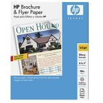 HP Brochure and Flyer Paper - Glossy paper - Letter A Size (8.5 in x 11 in) - 180 g/m2 - 150 sheet(s) - for Officejet 4500, 4500 G510, 4630, 7500A E910; Officejet Pro 8500, 8500 A909, 8500A (Q1987A)