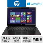 "HP ENVY 6t-1100 Ultrabook - 3rd generation Intel Core i5-3317U 1.7GHz, 4GB DDR3, 500GB HDD + 32GB SSD, 15.6"" Display, Windows 8 64-bit"