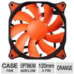 Cougar Vortex PWM CFV12HP 120mm Case Fan - Optimum Airflow, Hydro-dynamic Bearing Technology, Tool-less Fixed Pins, Pulse Width Modulation, Anti-vibration Pad, Orange