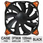 Cougar Vortex PWM CFV12HPB 120mm Case Fan - Optimum Airflow, Hydro-dynamic Bearing Technology, Tool-less Fixed Pins, Pulse Width Modulation, Anti-vibration Pad, Black