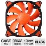 Cougar CFV12H Vortex HDB Case Fan - 120mm, Hydro Dynamic Bearing, 1200 RPM, 3-Pin, Orange