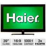 Haier L39B2180 39&quot; Class LCD HDTV -  1080p, 1920 x 1080, 16:9, 60Hz, 8ms, 5000:1, HDMI, USB