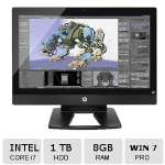 HP Z1 G2 All-in-One Workstation � 27� Display, 2560 x 1440, Intel Core i7 4790, 3.6 GHz, Quadcore, 8 GB, 1 TB HDD, DVD SuperMulti, Intel HD Graphics 4600, Windows 7 Pro 64-bit - M8X58UT#ABA