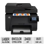 HP Color LaserJet Pro MFP M177fw CZ165A WiFi Printer, Print/Copy/Scan/Fax, up to 17ppm Black & 4ppm Color, 35-sheet ADF, ePrint, AirPrint - CZ165A#BGJ
