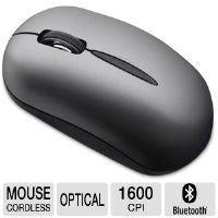 SMK-LINK VP6156 Bluetooth Notebook Mouse - 1600 cpi, Optical Sensor, 3 Buttons, 33' Wireless Range, Low Power Indicator