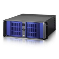 iStarUSA D-406-B6SA-BLUE Compact Stylish Rackmount Chassis - 4U