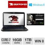 "iBUYPOWER VALKYRIE Gaming Laptop - 3rd gen Intel Core i7-3630QM 2.4GHz, 16GB DDR3, 1TB HDD, Blu-Ray Player, 4GB NVIDIA GTX 675MX, 17.3"" Full HD, Windows 8 64-bit, Assassin's Creed III (CZ-17-TD05)"