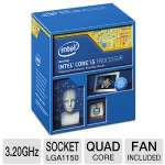 Intel Core i5-4570 Processor - Quad Core, 6MB L3 Cache, 3.2GHz, 84W, Fan, 1150 MHz Graphics Core Speed  - BX80646I54570