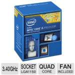 Intel Core i5-4670K Processor - Quad Core, 6MB L3 Cache, 3.4GHz, 84W, Fan, 1200 MHz Graphics Core Speed  - BX80646I54670K