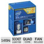 Intel Core i5-4670 Processor - Quad Core, 6MB L3 Cache, 3.4GHz, 84W, Fan, 1200 MHz Graphics Core Speed  - BX80646I54670