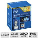 Intel Core i7-4770K Processor - Quad Core, 8MB L3 Cache, 3.5GHz, 84W, Fan, Unlocked Multiplier, 1250 MHz Graphics Core Speed  - BX80646I74770K