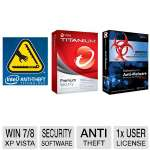 Intel Laptop Anti-Theft Lock Down Secure Service and Malwarebytes Anti-Malware 2013 Software and Trend Micro Titanium Premium Security Software  Bundle