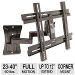"Interion I92-40935 Medium Full Motion Mount -  For 23-40"" TVs"