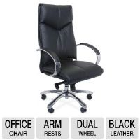 Interion Executive Office Chair - Soft Leather, Black