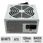 Solid Gear Basix 500W Power Supply - 120mm Fan, Supports Dual and Quad Core CPU, White  - SDGR-500BX