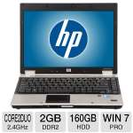 HP EliteBook 6930p Notebook PC - Intel Core 2 Duo 2.4GHz, 2GB DDR2, 160GB HDD, DVDRW, 14.1 in., Windows 7 Professional 32-bit (RB-825633377363) (Off-Lease)