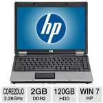 "HP Compaq 6530b Notebook PC - Intel Core 2 Duo 2.26GHz, 2GB DDR2, 120GB HDD, DVDRW, 14.1"" Display, Windows 7 Home Premium (Off-Lease)"