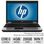 HP Compaq 8440p Notebook PC - Intel Core i5 2.4GHz, 4GB DDR3, 250GB HDD, DVDRW, 14.1 in. Display, Windows 7 Professional 32-bit (RB-825633377547) (Off-Lease)