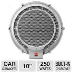 "JBL MPS1000 Powered Marine Subwoofer - 10"", 250-Watt, Built-in 12dB Electronic Crossover"