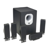 JBL SCS500.5 SCS Series 5.1 Channel Home Theater Speaker System - 150W, 8Ohms, Black