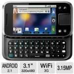 Motorola Flipside Moto MB508 GSM Unlocked Cell Phone - Android OS (Eclair), 3G, QWERTY, TouchScreen, MicroSD, 150 MB, WiFi, Bluetooth, MicroUSB, GPS, MP3, Google Talk, Photo Editor, Black