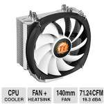 THERMALTAKE Frio Silent 14 140mm CPU Cooler -  4 Pin PWM Connector, Heatsink: Aluminum Fins Copper Heatpipes, 19.3 dBA, 165 W - CL-P002-AL14BL-B