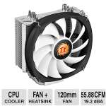 THERMALTAKE Frio Silent 12 120mm CPU Cooler -  4 Pin PWM Connector, Heatsink: Aluminum Fins Copper Heatpipes, 1400 RPM, 19.2 dBA, 150 W - CL-P001-AL12BL-B