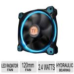 Thermaltake Riing 12 LED Fan - Blue, Concentrated Compression Blade, Wind Blocker Frame, Tt LCS Certified, Thermal Image Test - CL-F038-PL12BU-A