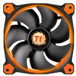 Thermaltake Riing 14 Series Case/Radiator Fan - High Static Pressure, 140mm Circular Orange LED Ring - CL-F039-PL14OR-A
