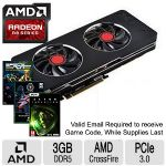 XFX AMD Radeon R9 280 3GB DDR5 Graphics Card - 3GB DDR5 Memory, 384-bit, 1000MHz GPU Clock, 5.2GHz Memory Clock ,PCI-E 3.0 - R9280ATDBD - (3 FREE Games up to $160 value after purchase, limited offer)
