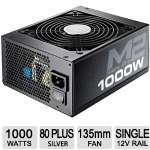 Cooler Master Silent Pro M2 1000W Power Supply - 135mm Fan, ATX, 80 Plus Silver - RSA00-SPM2D3-US