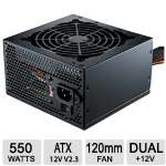 Cooler Master Elite V2 550W PSU - ATX 12V V2.3, 120mm Fan - RS550-PCARN1-US