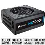 Corsair HX1000I � 80 Plus Platinum Modular Power Supply, 1000W, Quiet Mode, Fully Modular Cable Set - HXi High Performance - CP-9020074-NA