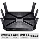 TP-Link Archer C3200 - Wireless router - 4-port switch - GigE - 802.11a/b/g/n/ac - Dual (ARCHER C3200)