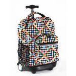 J World New York Sunrise Rolling Backpack - Checkers - RBS-18 CHECKERS