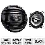 Kenwood 4&quot; Speaker System - 45Hz-22kHz, 120W Max Peak Power, 3-Way, Black (KFC-1064S)
