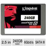 "Kingston V300 240GB SSD - 2.5"" Form Factor, SATA III 6Gb/s, Up To 450 MB/s Read Speed, Up To 450 MB/s Write Speed - SV300S37A/240G"