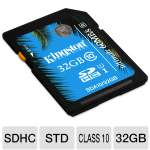 Kingston 32GB SDHC Flash Card - UHS-I, Class 10, Up To 60MB/s Read Speed, Up To 35MB/s Write Speed (SDA10/32GB)