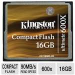 Kingston Ultimate - Flash memory card - 16 GB - 600x - CompactFlash