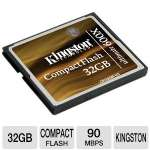 Kingston Ultimate 32GB Flash memory card - 600x, CompactFlash (CF/32GB-U3)