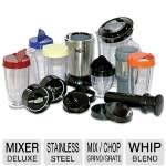 Koolatron Miracle Mixer Deluxe - Mix, Chop, Whip, Grind, Grate, Blend, Stainless Steel  - MMDX-19