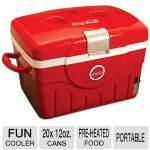 Koolatron Coca Cola Fun Cooler - 20x 12 oz. Cans Capacity, Cools to 36 F, Pre-heated Food Keeping at 149 F, Portable (KCC14)