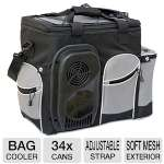 Koolatron Soft Bag Cooler - 34 Cans Capacity, Adjustable Strap, Soft Mesh Exterior, 12V (D25)
