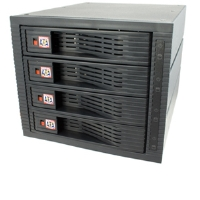 "Kingwin KF-4001-BK Hot-Swap Rack - 4-Bay 3.5"" SATA, Internal"