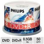Philips DR8S8B50F/17 50 Pack 8X DVD+R DL Spindle - 8.5GB