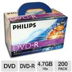 Philips DM4S6U02C/17 DVD-R - 200 Pack, 16X, Box