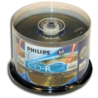 Philips CR7D5LB50/17 CD-R - 50 Pack, 52X, Lightscribe, Spindle