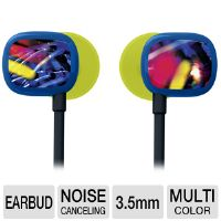Ultimate Ears 100 Earbuds - Noise Isolating, 3.5mm Jack, Neon Lights Color (985-000248)