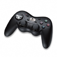 Logitech Cordless Precision Controller - Game pad - wireless - black - for Sony PlayStation (940-000018)